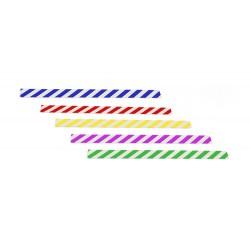PVC labels gestreept